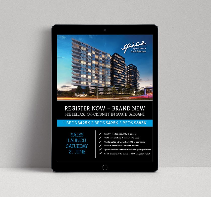 Spice Apartments Email Newsletter