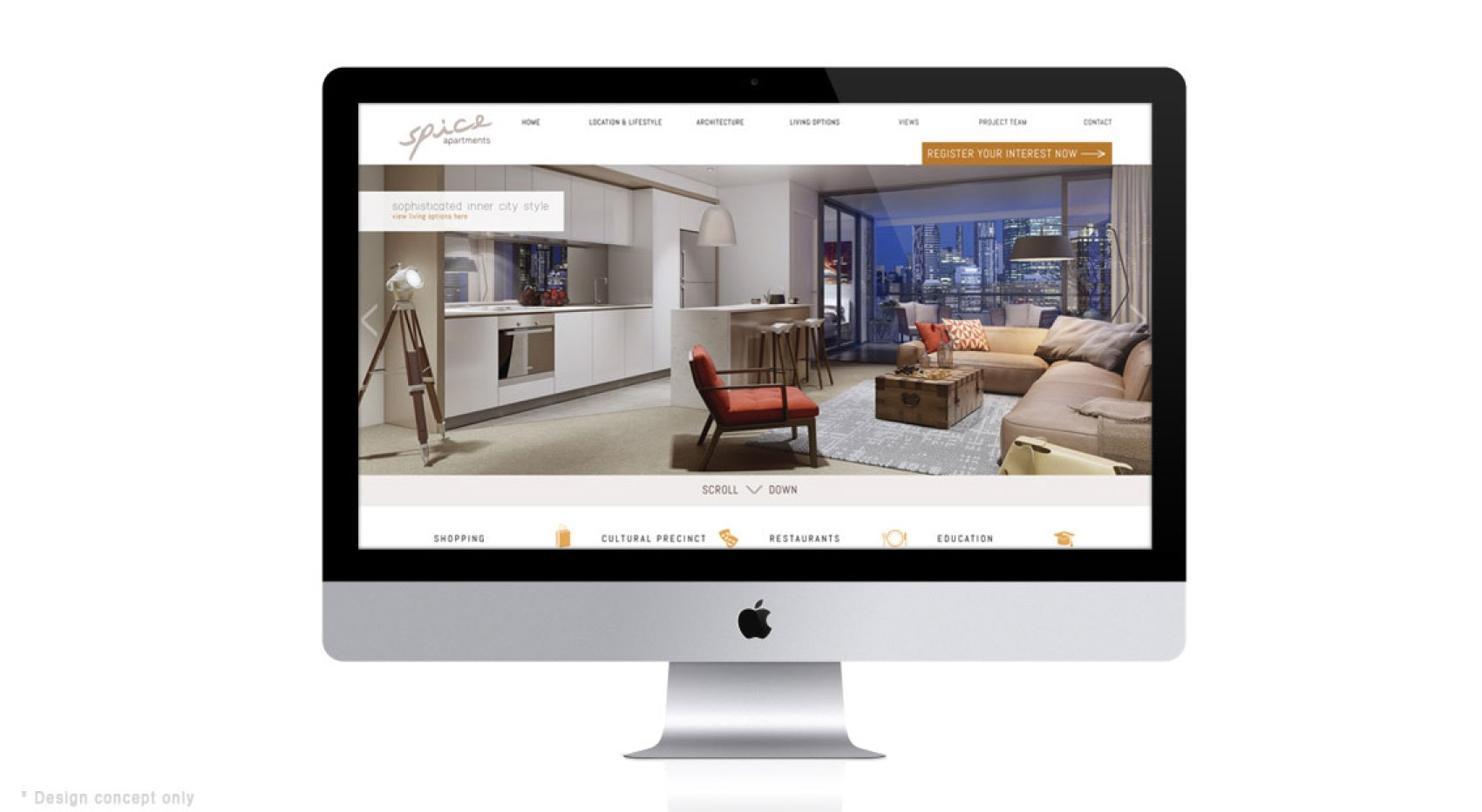 Spice North Tower Website Concept